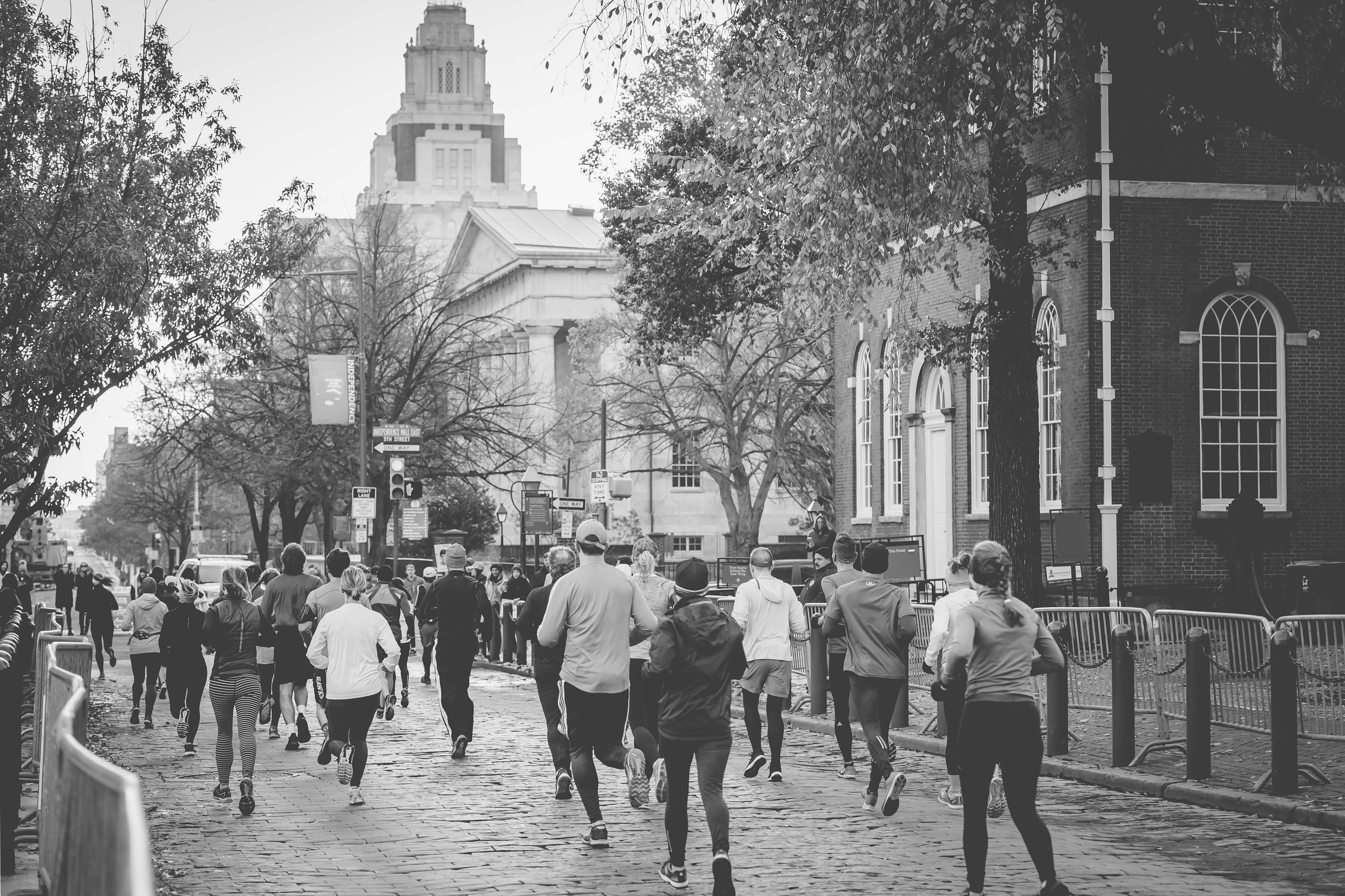 People Running in a City